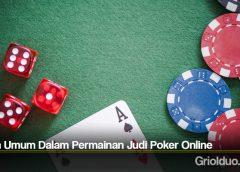 Istilah Umum Dalam Permainan Judi Poker Online